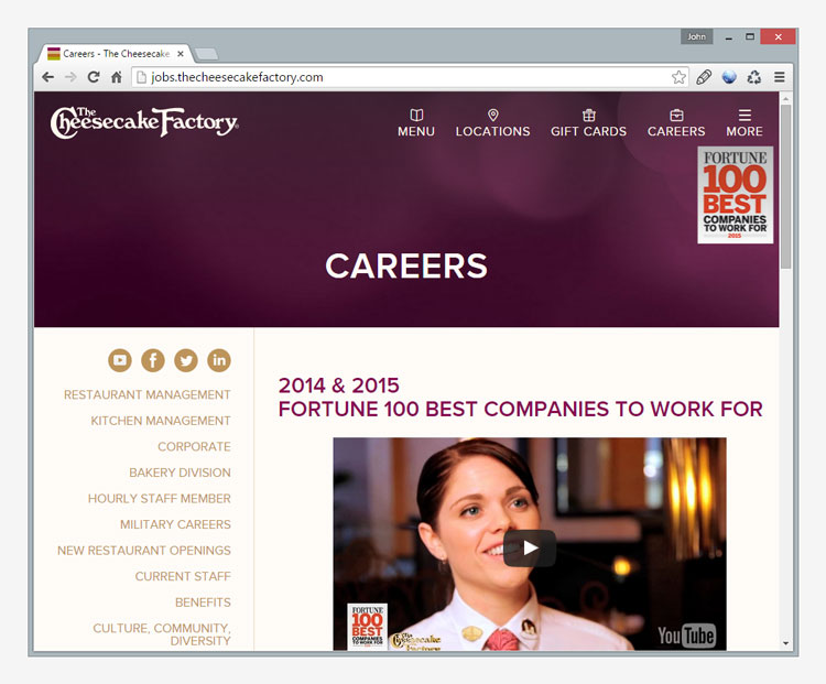 The Cheesecake Factory Careers